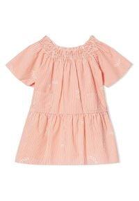 BURBERRY CHILDREN - Sukienka w paski 0-2 lat. Kolor: biały. Materiał: materiał. Wzór: paski. Sezon: lato