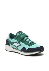KangaRoos - Sneakersy KANGAROOS - Invader Rk 19031 000 8024 D Lt. Green. Okazja: na spacer, na co dzień. Zapięcie: rzepy. Kolor: zielony. Materiał: skóra, zamsz, materiał. Szerokość cholewki: normalna. Styl: casual
