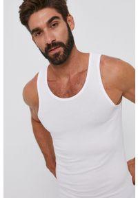 United Colors of Benetton - T-shirt. Okazja: na co dzień. Kolor: biały. Materiał: dzianina. Styl: casual
