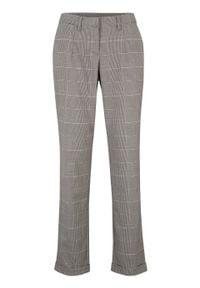 Spodnie w kratę glencheck bonprix matowy srebrny - szary - łupkowy szary w kratę. Kolor: szary