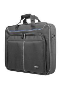 Czarna torba na laptopa NATEC biznesowa, w kolorowe wzory