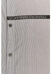 Biała koszula Armani Exchange klasyczna, na co dzień, długa
