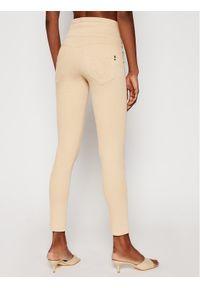 Beżowe jeansy slim Patrizia Pepe