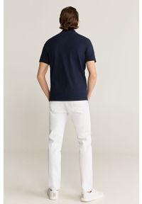 Niebieska koszulka polo Mango Man casualowa, krótka, polo