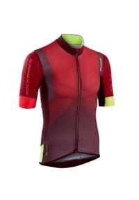 ROCKRIDER - Koszulka Na Rower Mtb Xc Marathon. Kolor: czerwony. Materiał: poliester, elastan, poliamid, materiał. Sport: kolarstwo