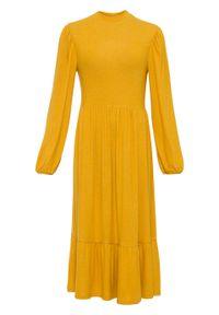 Żółta sukienka bonprix melanż, midi