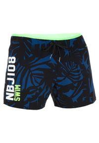 NABAIJI - Szorty Pływackie Krótkie 100 Nbji Męskie. Kolor: niebieski. Materiał: poliamid, materiał, elastan. Długość: krótkie
