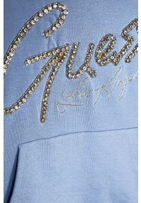 Niebieska bluza Guess na co dzień, casualowa