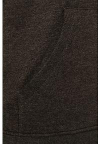 Szara bluza nierozpinana Brave Soul na co dzień, casualowa, melanż, z kapturem