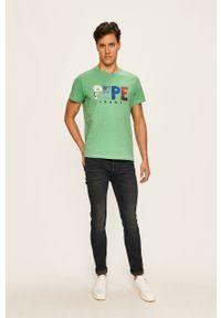 Niebieskie jeansy PRODUKT by Jack & Jones z aplikacjami
