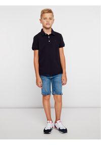 Czarny t-shirt polo TOMMY HILFIGER polo