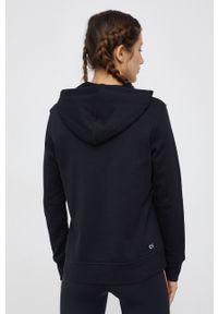 Calvin Klein Performance - Bluza. Kolor: czarny. Materiał: dzianina. Długość rękawa: długi rękaw. Długość: długie. Wzór: nadruk