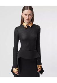 Czarna bluzka Burberry z nadrukiem, elegancka