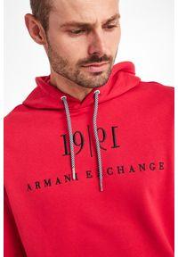 Armani Exchange - BLUZA ARMANI EXCHANGE. Typ kołnierza: kaptur. Wzór: napisy, haft