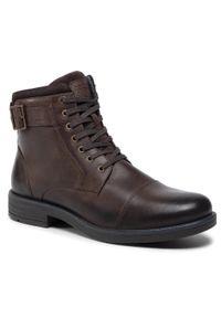 Brązowe buty zimowe Lasocki For Men z cholewką, na co dzień, casualowe