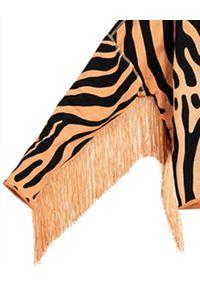 ROBERT KUPISZ - Oversize'owa bluza NOW WILD FRINGE. Kolor: czarny. Długość rękawa: długi rękaw. Długość: długie. Wzór: aplikacja, nadruk