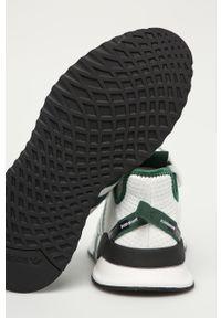 Białe sneakersy adidas Originals do biegania, z okrągłym noskiem