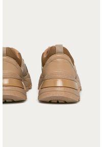 Beżowe buty sportowe Answear Lab na obcasie, z cholewką