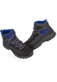Szare buty trekkingowe