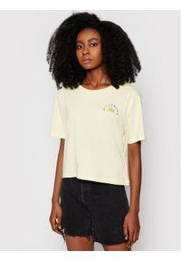 Billabong T-Shirt Feeling Free W3SS26 BIP1 Żółty Cropped Fit. Kolor: żółty