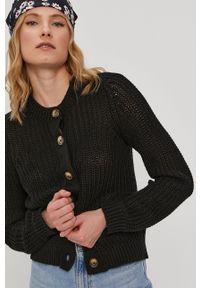 Pieces - Sweter. Okazja: na co dzień. Kolor: czarny. Materiał: bawełna. Długość rękawa: długi rękaw. Długość: długie. Styl: casual