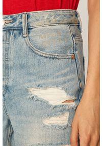 Niebieskie jeansy Miss Sixty casualowe, z podwyższonym stanem