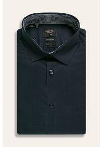 Niebieska koszula Selected długa, z klasycznym kołnierzykiem