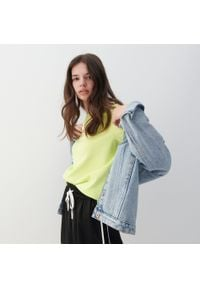 Reserved - Bluza z bawełny organicznej - Zielony. Kolor: zielony. Materiał: bawełna