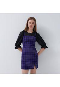 House - Sukienka w kratę - Fioletowy. Kolor: fioletowy