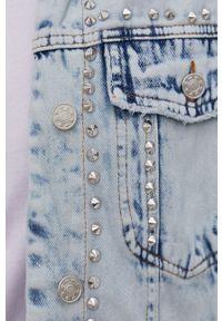 Answear Lab - Kurtka jeansowa. Kolor: niebieski. Materiał: jeans. Styl: wakacyjny