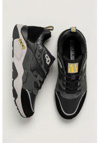 Czarne sneakersy Napapijri z okrągłym noskiem, z cholewką, na sznurówki