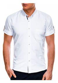 Biała koszula Ombre Clothing button down, krótka