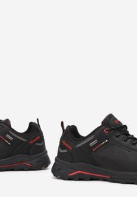 Born2be - Czarno-Czerwone Buty Trekkingowe Pahadron. Nosek buta: okrągły. Zapięcie: sznurówki. Kolor: czarny. Materiał: nubuk, materiał, syntetyk. Szerokość cholewki: normalna. Wzór: aplikacja. Sezon: lato