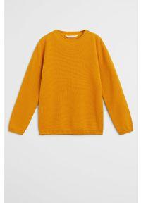 Żółty sweter Mango Kids na co dzień, casualowy