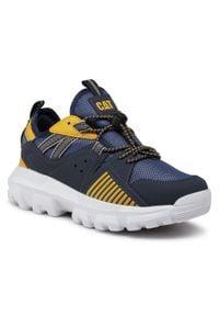 CATerpillar - Sneakersy CATERPILLAR - Raider CK264124 Orange. Okazja: na uczelnię, na spacer. Kolor: niebieski. Materiał: skóra, skóra ekologiczna, materiał. Szerokość cholewki: normalna
