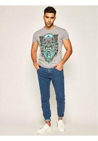 Rage Age T-Shirt Chors Szary Slim Fit. Kolor: szary