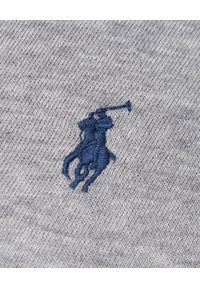 Ralph Lauren - RALPH LAUREN - Koszulka Polo Classic fit. Okazja: na co dzień. Typ kołnierza: polo. Kolor: szary. Materiał: bawełna. Wzór: haft. Styl: elegancki, casual