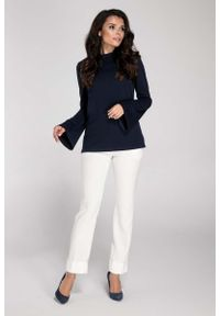 Niebieska bluzka z długim rękawem Nommo elegancka