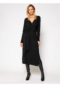 Czarna sukienka dzianinowa Trussardi Jeans