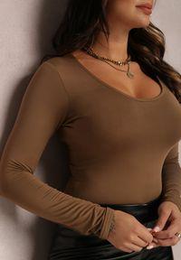 Renee - Brązowe Body Hephete. Kolor: brązowy. Materiał: dzianina. Długość: długie