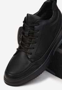 Born2be - Czarne Trzewiki Hystoelle. Nosek buta: okrągły. Kolor: czarny. Szerokość cholewki: normalna