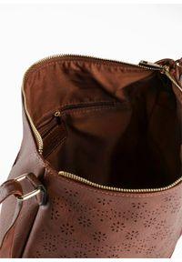 Torebka na ramię bonprix koniakowy. Kolor: brązowy. Materiał: skórzane. Rodzaj torebki: na ramię