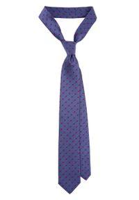 Niebieski krawat Lancerto w kropki, elegancki