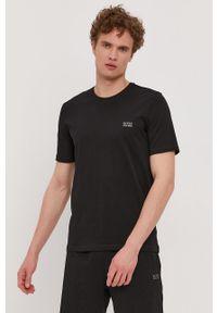 BOSS - Boss - T-shirt. Okazja: na co dzień. Kolor: czarny. Materiał: dzianina. Wzór: gładki. Styl: casual