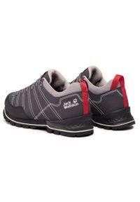 Szare buty trekkingowe Jack Wolfskin z cholewką, trekkingowe