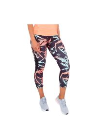 Legginsy damskie do biegania 7/8 Pro Touch Corala 302141. Materiał: włókno, poliester, materiał, elastan. Długość: krótkie. Wzór: gładki. Sport: fitness