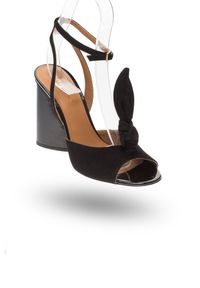 Czarne sandały Emporio Armani na lato