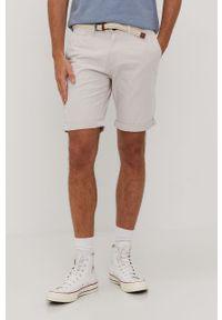 Beżowe szorty Tom Tailor gładkie, na co dzień, casualowe