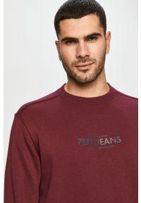 Pepe Jeans - Bluza Horace. Okazja: na co dzień. Kolor: czerwony. Wzór: nadruk. Styl: casual