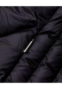 Hetrego - HETREGO - Czarny płaszcz puchowy Evette. Kolor: czarny. Materiał: puch. Styl: sportowy, elegancki #5